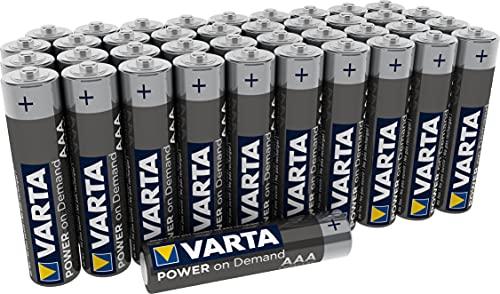 Batterie VARTA Power on Demand AAA Micro (adatte per accessori PC, dispositivi di domotica o torce) confezione da 40, (4003311391)
