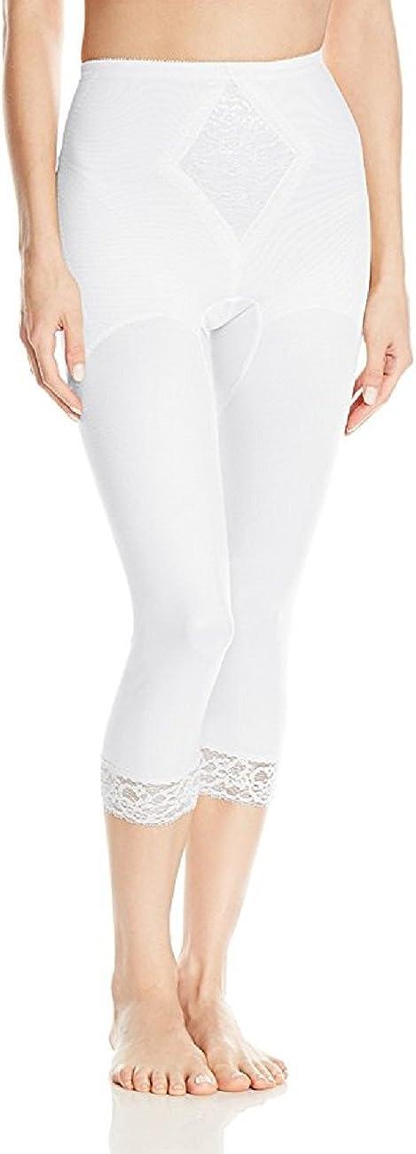 Rago Women's Medium Shaping Support Legging, White, 2X-Large (34)
