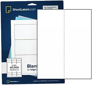 "Sticker Paper, Full-Sheet Labels, All Purpose 8.5"" x 11"" White Matte, Laser or Inkjet Printing, Vertical Back-Slit, 5000 L..."