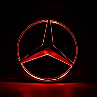 LED Emble For Mercedes Benz 2013-2015 Front Grille Badge Grilled Star Illuminated Car Logo Hood Star For Benz A B C E R (Red)