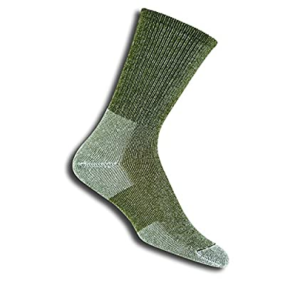 Thorlos Ultra Light Hiking with Coolmax Crew Sock Willow Green, 13