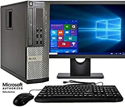 Dell Optiplex 990 SFF Computer, Intel Core i5 3.1GHz, 8GB RAM, 500GB HDD, Keyboard/Mouse, WiFi, 17in LCD Monitor (Brands Vary), DVD, Windows 10 Pro (Renewed)