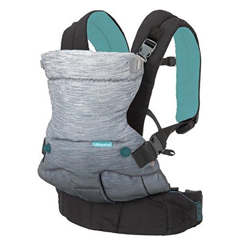 Infantino Go Forward Babytrage – Verstellbare Babytrage mit 4 Tragepositionen – Für Säuglinge und Kleinkinder von 3,6-18 kg