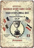 William Vanderbilt Cup Automobile Race ティンサイン ポスター ン サイン プレート ブリキ看板 ホーム バーために