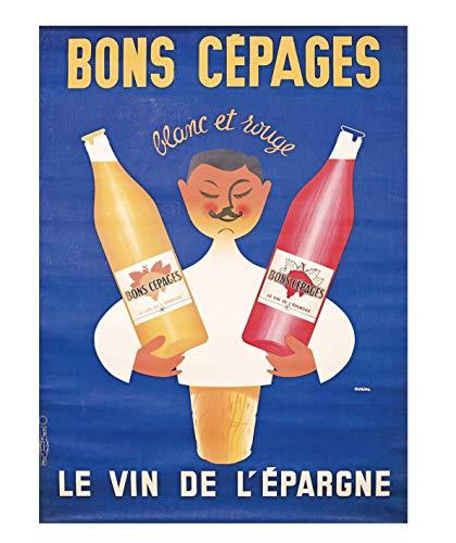 Póster de vino, color blanco y rojo, 50 x 70 cm, papel de lujo, 300 g. Venta del archivo digital HD posible, consulta (tienda: cartel vintage.FR)