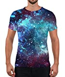 Alistyle Unisex Short Sleeve T Shirt 3D Galaxy Pattern Graphics Tees for...