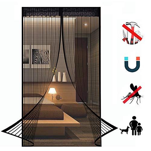 SYC Fliegengitter Tür Insektenschutz Magnet Fliegenvorhang - Kinderleichte Klebemontage Ohne Bohren für Wohnzimmer Balkontür Terrassentür - 80 x 195 cm