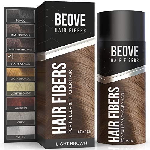 Light Brown Hair Fibers for Thinning Hair Make Your Hair Look Fuller Thicker Instantly 100 Undetectable product image