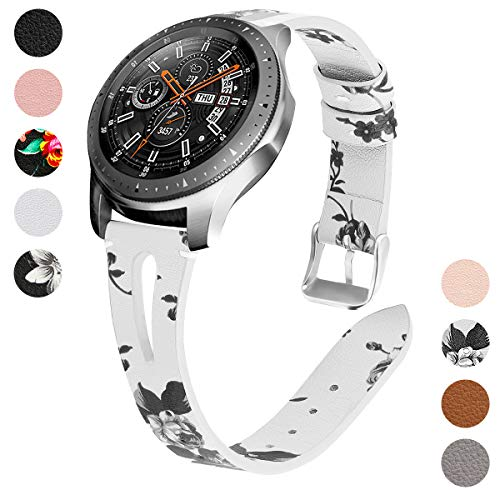 YSSNH Kompatibel für Samsung Gear S3 Armband Leder 22mm Uhrenarmband Schnellverschluss Ersatzarmband für Galaxy Watch 46mm/Gear S3 Classic/Gear S3 Frontier für Frauen