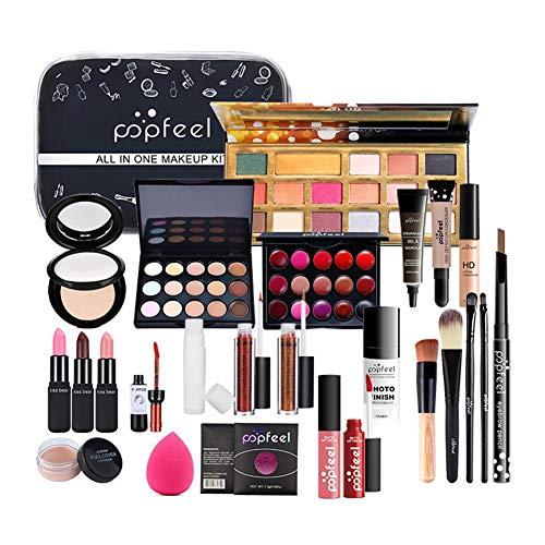 Pro-Make-up-Pinsel-Set,30-teiliges Make-up-Set,POPFEEL All IN ONE Make-up-Set KIT005Alles In Einem Make-up-Paket,Lidschatten-Palette,Make-up-Set Oder Lipgloss-Set Usw.