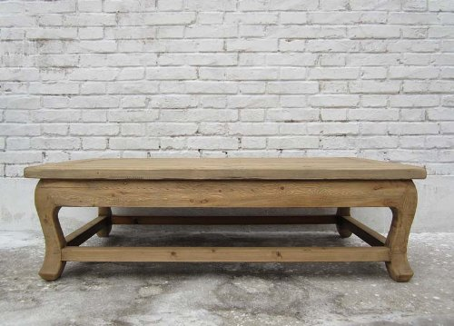 Luxury-Park China grosser flacher Tisch Podest helles Ulmenholz naturbelassen
