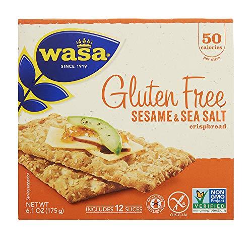 Wasa, Gluten Free Sesame & Sea Salt Crispbread, Net wt. 6.1 Oz