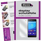 dipos I 2X Schutzfolie klar kompatibel mit Sony Xperia M5 Folie Bildschirmschutzfolie