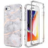 SURITCH Compatible avec Coque iPhone 7/8 Silicone 360 Degrés Protection Ultra Fine...