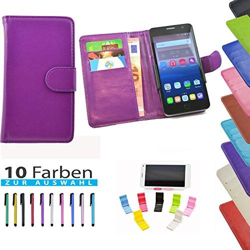 5 in 1 set ikracase Slide Hülle für HiSense HS-U970E-8 Smartphone Tasche Case Cover Schutzhülle Smartphone Etui in Violett