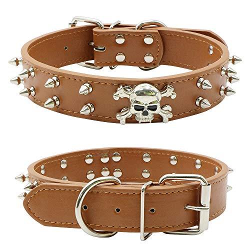 Tie langxian Hundehalsband, Verstellbare Halsbänder für Hunde, mit Nieten