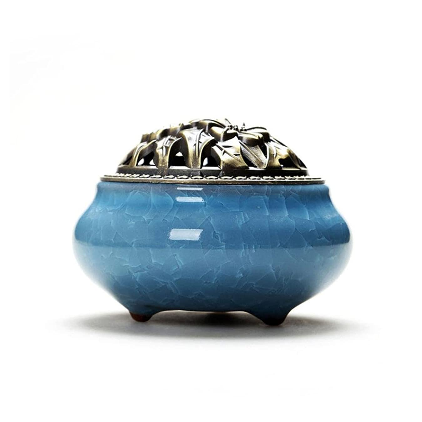 Aijoo 陶磁器 香炉 丸香炉 アロマ陶磁器 青磁 香立て付き アロマ アンティーク 渦巻き線香 アロマ などに 調選べる 9カラー