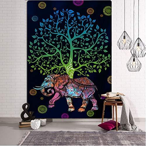 UUFTTNE Bohemian Mandala Elephant Tapestry Wall Hanging Sandy Beach Picnic Throw Rug Blanket Camping Tent Travel Sleeping Pad 230X180Cm Gt039