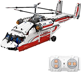 Remote Control APP Helicopter Children's Educational Puzzle Assembling Small Particle Blocks, Birthday Toy Gift for 8+ Yea...