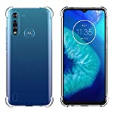 FUNMAX+ Moto G8 Power Lite Case, Crystal Clear Cover Bumper
