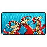 HaJie Sea Drift Bottle Octopus Animal Tentáculos Felpudo Mat...