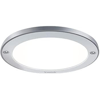 14W Repalce 100W Dimmable Yeuloum 10 inch LED Flush Mount Ceiling Light Fixture Satin Nickel Finish 994 Lumen Dust-Proof ETL//ES Rated Hausrect Home Products Co Limited YO-FM002