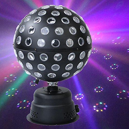 Discokugel LED Party Lampe Beleuchtung 6 Farben DJ Licht Disco Party Lichter Musik und Stimme Steuerung Bühnenbeleuchtung Effektlicht für Party Deko Hochzeit Feier Halloween Weihnachten Club Bar