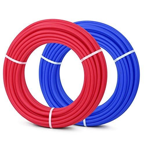 OldFe Ossigeno Barriera PEX Tubi 2 Rotoli 1/2 Pollici x 100 Piedi Tubo EVOH PEX-B per Riscaldamento a Pavimento ad Uso Residenziale e Uso Commerciale