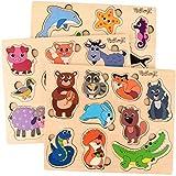 PixitoyZ Puzzle Madera para 1 2 y 3 años. Juegos Educativos y Regalo Original para niños en Navidad o en un Cumpleaños. Montessori Puzzles Animales para Infantiles. Juguetes para Bebes, niños o niñas