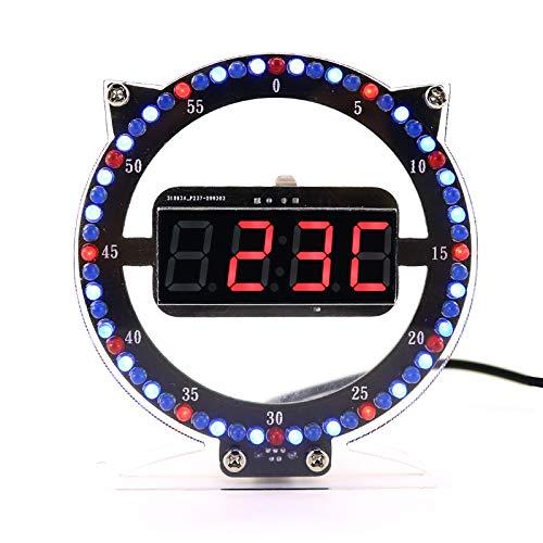 Wangcheng Cute Cat Kitten Shape Electronic Alarm Clock Soldering Kit Practice Electronics DIY Project Simple Module Model (Cat Clock)