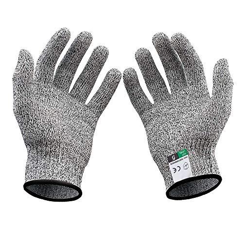 Schnittschutz Arbeitshandschuhe, Schnittschutzhandschuh für Kinder, Level 5 Schutz Handschuhe, Geeignet für 8-12 Jährige (XS)