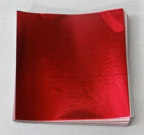 6 X 6 Red Foil Candy Wrappers by Unknown