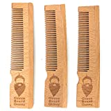 Naturally Normal Pocket Comb - 3-Pack - 100% Sustainable Bamboo Combs by Green Beard Grmng - Static Free Men's Hair, Beard, and Mustache Styling Comb for Every Day Grooming
