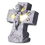 Estatua De ángel, Adornos De ángel Inodoros Y Brillantes con Luz Decoración De Chimeneas(SCS-RC083-B)