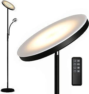 Anten Decki | 30W Lampadaire LED Dimmable avec 5W Lampe de lecture | Lampe avec télécommande | Lampadaire avec fonction mé...