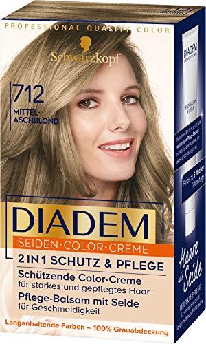 Diadem Seiden-Color-Creme 712 Mittelaschblond Stufe 3, 3er Pack (3 x 180 ml)