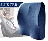 Lukzer 1 Pc Memory-Foam Back Cushion Fits Car Seat & Office Chair –