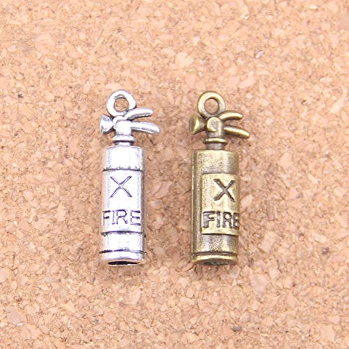 DIY010504 Handmade Charms 54Pcs Charms Fire Extinguisher Fireman 23x6x6mm Antique Pendants Vintage Tibetan Silver Jewelry DIY for Bracelet Necklace - Metal Type: Antique Silver Plated