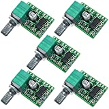 R REIFENG 5pcs Mini PAM8403 DC 5V 2 Channel USB Digital Power Amplifier Board Module 2 3W Volume Control with Potentionmeter