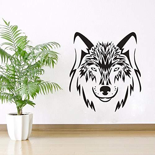 yaonuli muursticker wolf hond dieren wolf design muursticker huis woonkamer decoratie dieren wilddier muurschildering vinyl muur