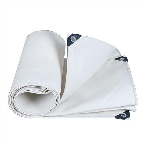 LJL Bache imperméable Bache Blanche imperméable à l'eau imperméable bache de Camping imperméable à l'eau de Plancher Bache Robuste (Couleur   blanc, Taille   5x5M)
