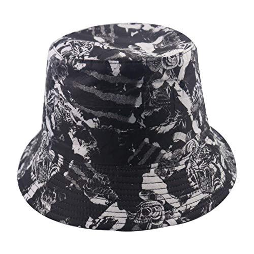 Bucket Hat Chapeau Casquettes De Panama De Mode Réversibles Motif Marine Chapeau De Pêcheur Hommes Chapeaux De Seau Tigre D'Été