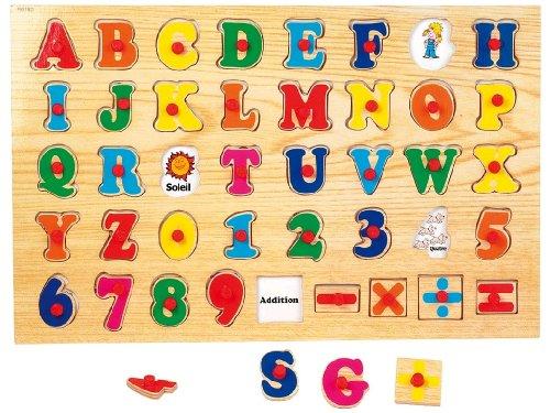 Mdi - Jouets En Bois - Puzzle Alphabet Bois