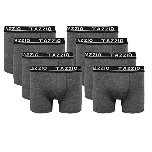 Tazzio Boxershorts Men Herren 8er Pack Unterwäsche Unterhosen Männer Retroshorts (M, Anthrazit (8er Set))