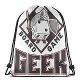 WH-CLA Drawstring Bags Jeu De Société Geek Mental Agility Yoga Durable Imprimé Sport...