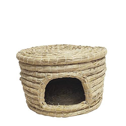 CWZJ Nid d'oiseau Naturel tissé Main Paille Pet nid d'oiseau Budgerigar Parrot Nest