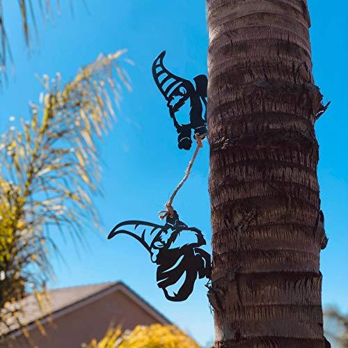 Stahlzweig Goblin Dekoration, Metall Tier Silhouette Kunst, Metall Baum Kunst Metall Goblin Garten Stahl Silber, Indoor Outdoor Ornament, Ostern Weihnachten Geschenk Dekoration (D)
