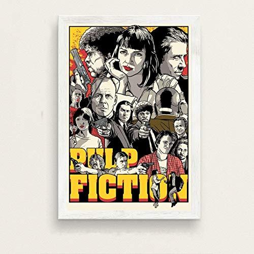 wangpdp Pulp Fiction Klassiker Film Quentin Tarantino Vintage Kunst Malerei Seide Leinwand Poster Wand Wohnkultur 50x70cm