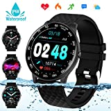 Smart Watch,Fitness Tracker Watch with Heart Rate Blood Pressure Monitor IP68 Waterproof Bluetooth Smartwatch...