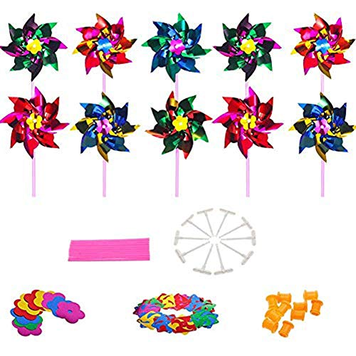 Clignotant Windmill DEL Spinning PATERN Glow Wand piles incluses